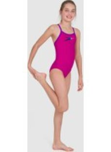 Kids Girl's Boom Placement Thinstrap Muscleback Swimsuit Diva