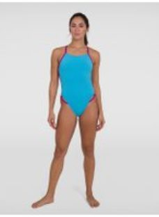 Women's Solid Freestyler Swimsuit Turquoise