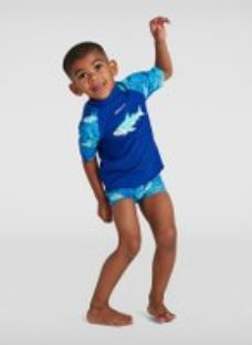 Kids Infant Boy's Sun Protection Top and Short Blue
