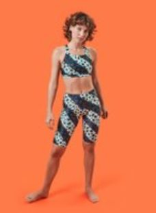House of Holland Muted Cheetah Stripe Cycling Short Navy Multi