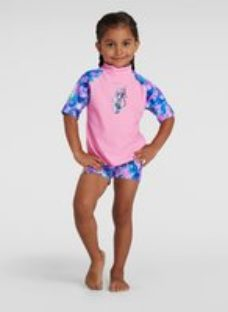 Infant Girl's Sun Protection Top and Short Pink - 3